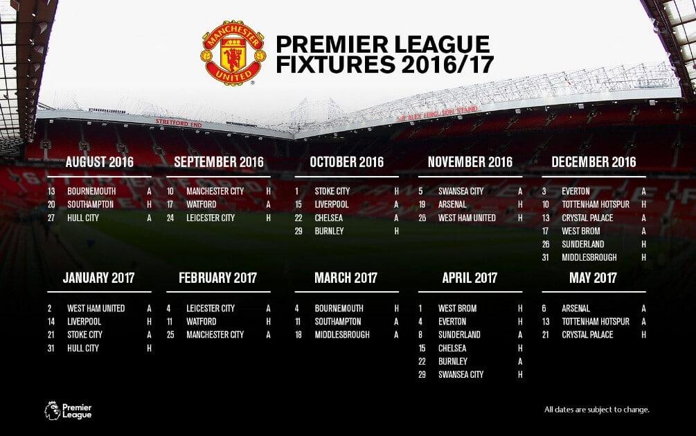 Манчестер юнайтед календар матчей