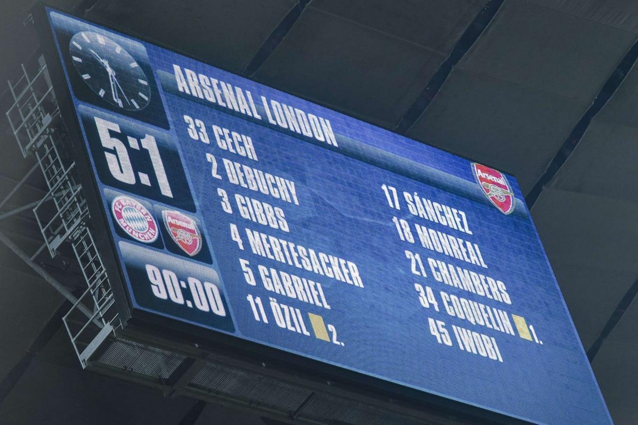Недавний разгром «Арсенала» от мюнхенской «Баварии» бьет в больное место английского футбола