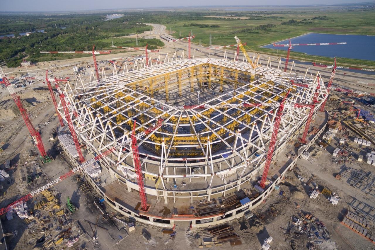 Новый стадион в Ростове, уже готов на 75 %