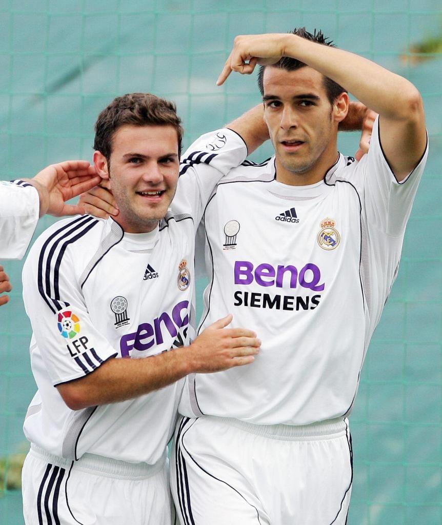 Хуан Мата в мадридском «Реале» (слева)
