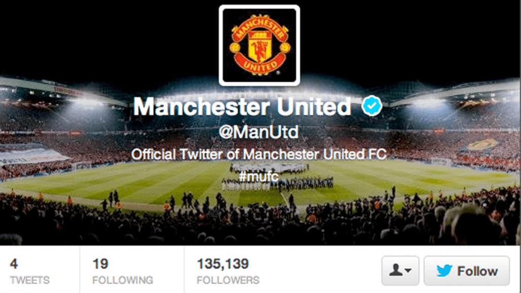 Манчестер Юнайтед зарегистрировал аккаунт в Twitter в 2013 году.